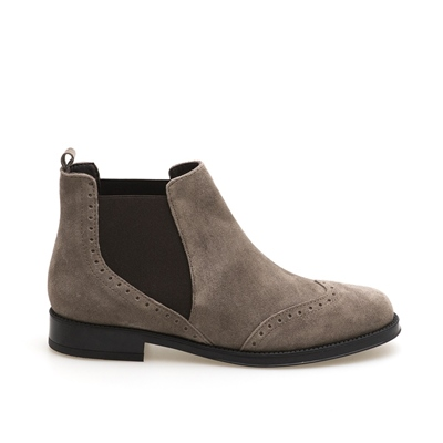 AEROSOLES WOMAN SUEDE BOOTIES PUSH BUTTON